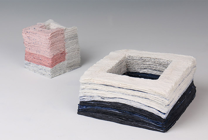 Layered Ceramics Exploring Materiality