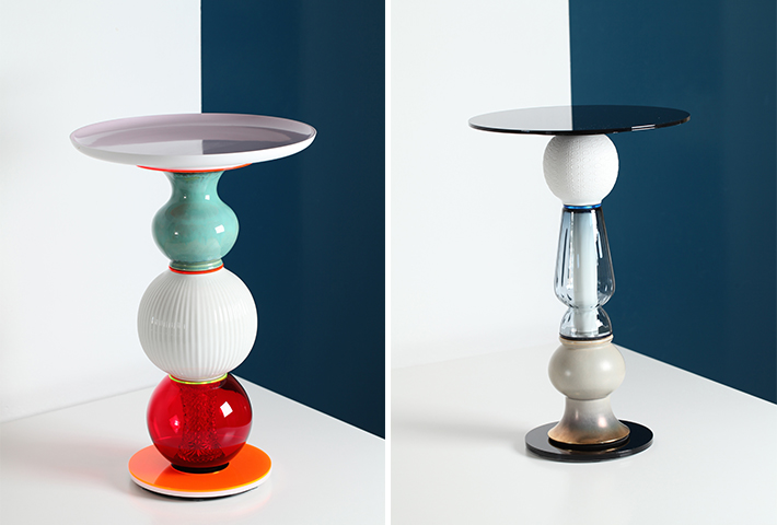 Small Tables Made From Vintage Vases