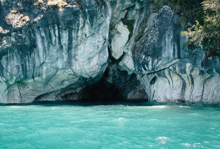Navigating Chile's Marble Caves