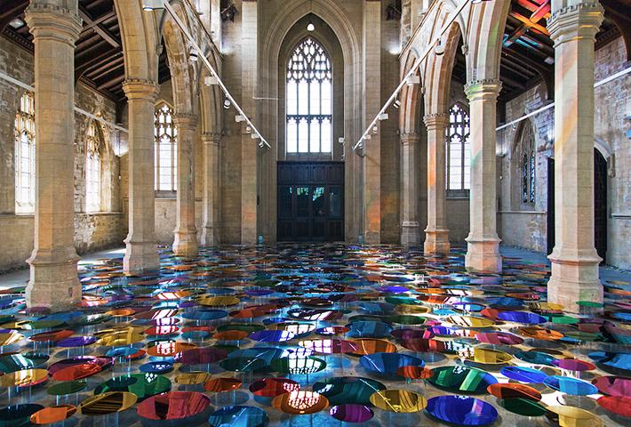 Liz West Fills A Historic Church With Luminous Art