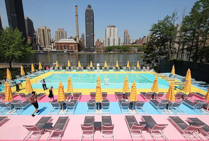 A Rainbow Pool Brightens Up Summer In NYC