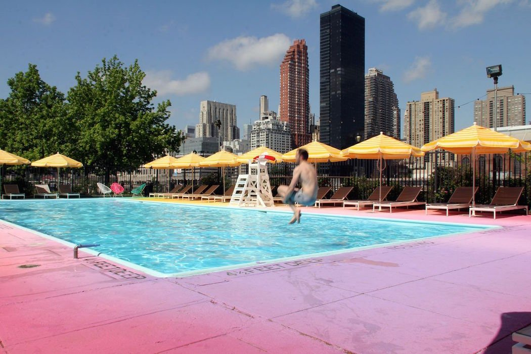 A Rainbow Pool Brightens Up Summer In NYC IGNANTcom