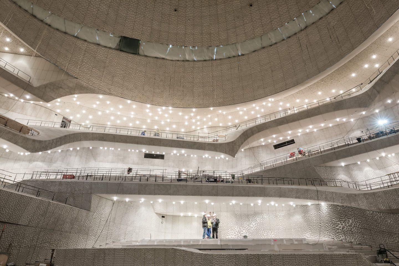 Elbphilharmonie: Pressetermin Weisse Haut