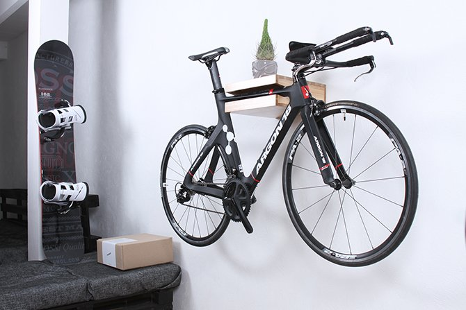 Wooden Bike Shelf By Twonee