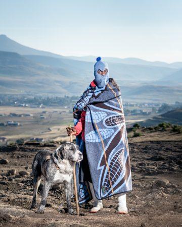 3. Thapelo Moiloa with his dog Limo - Ha Salemore, Lesotho