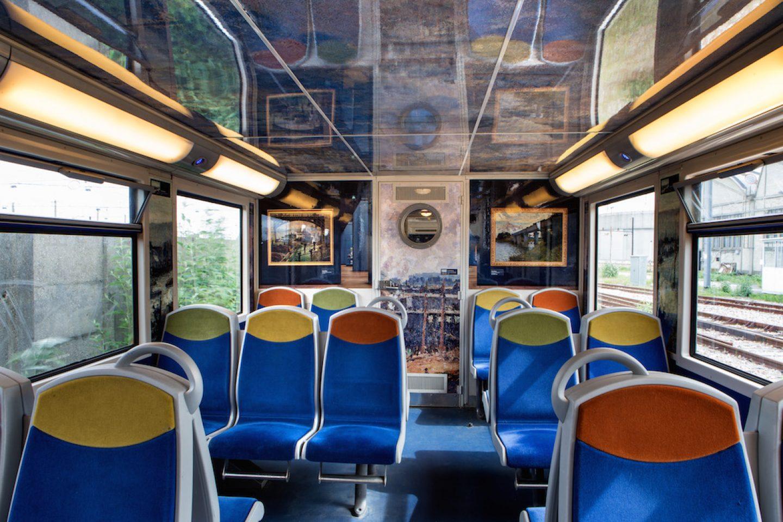 """15 juin 2013.Le """"Train de l'impessionnisme-Musée d'Orsay/STIF/SNCF""""."""