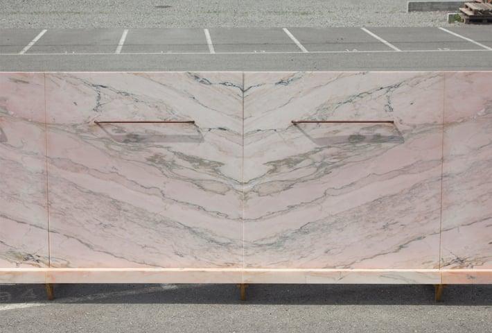 A Public Pissoir Made Of Pink Marble