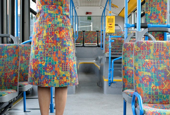 Turning Into Public Transportation Seats