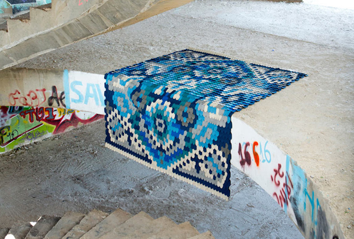 A Felted Twist On The Traditional Rug