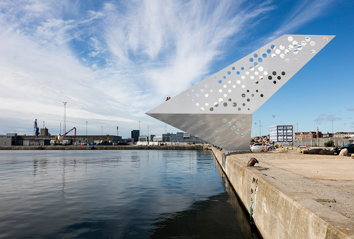 A Sailing Tower in Aarhus, Denmark