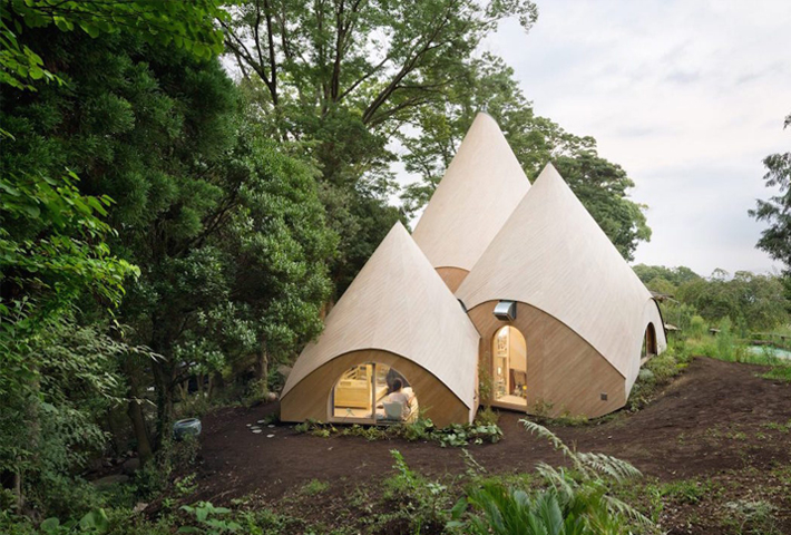 Teepee-shaped Buildings By Issei Suma