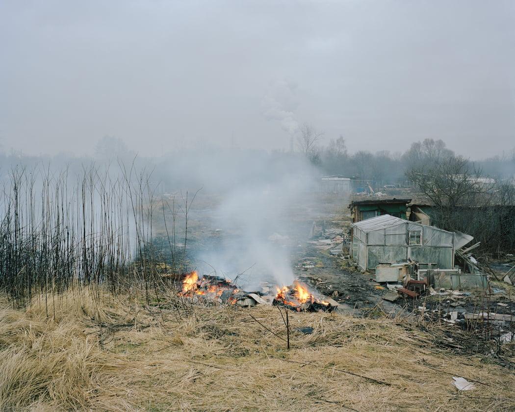 Burned down allotments in Voleri, 2014.