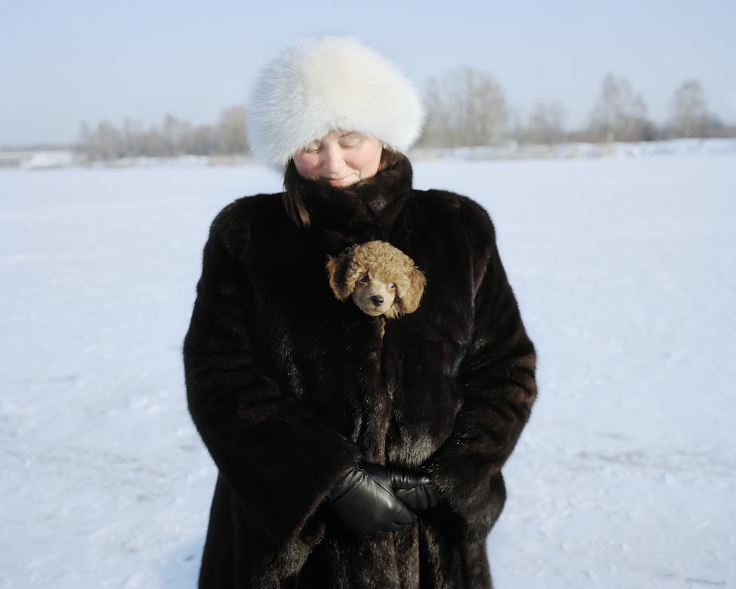 Olga with her dog
