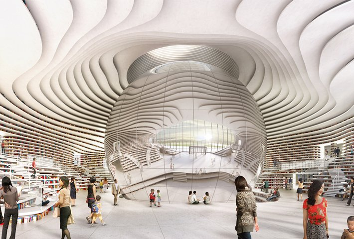 The Tianjin Binhai Library by MVRDV