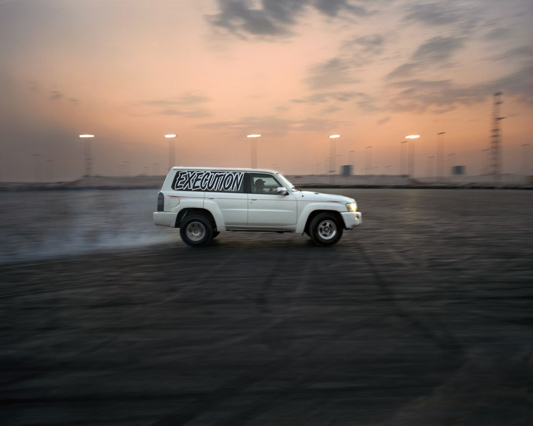 A member of the Execution group drifting in Umm Al Quwain, UAE.