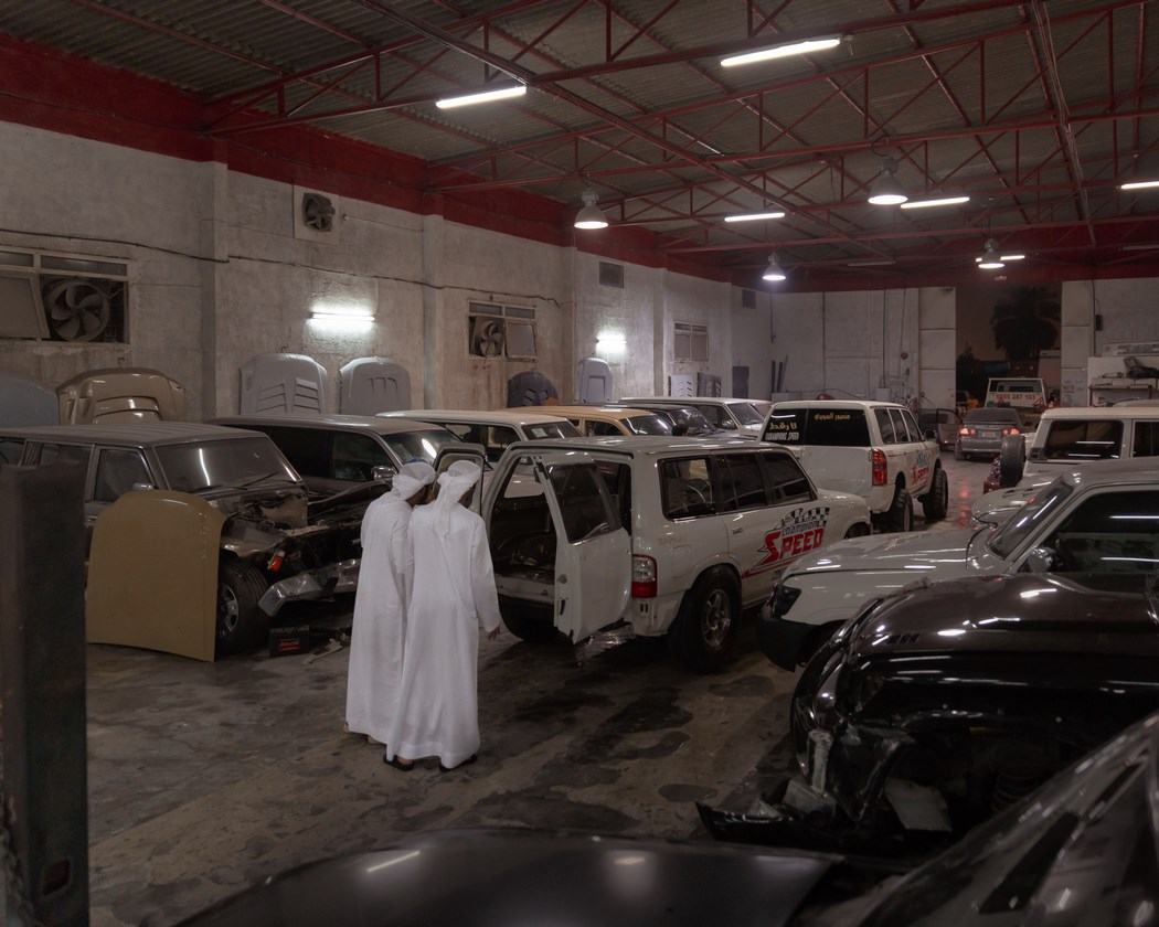 Champions Speed garage in Dubai where SUVs are tuned for drifting