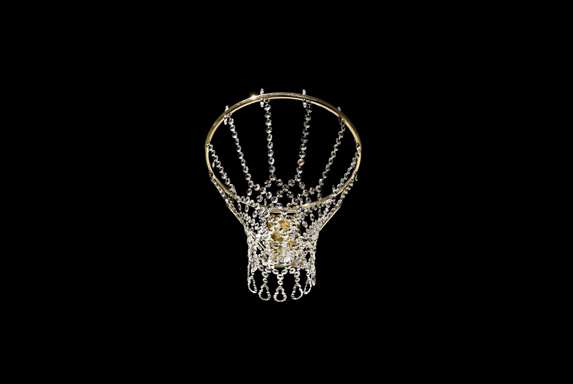 Basketball chandelier