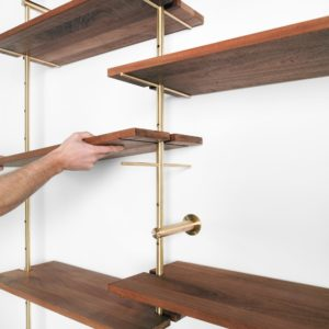 Brass Rail Shelving By Ryan Taylor