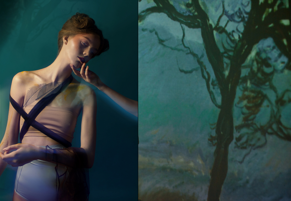 Woman In The Garden By Daria Djalelova