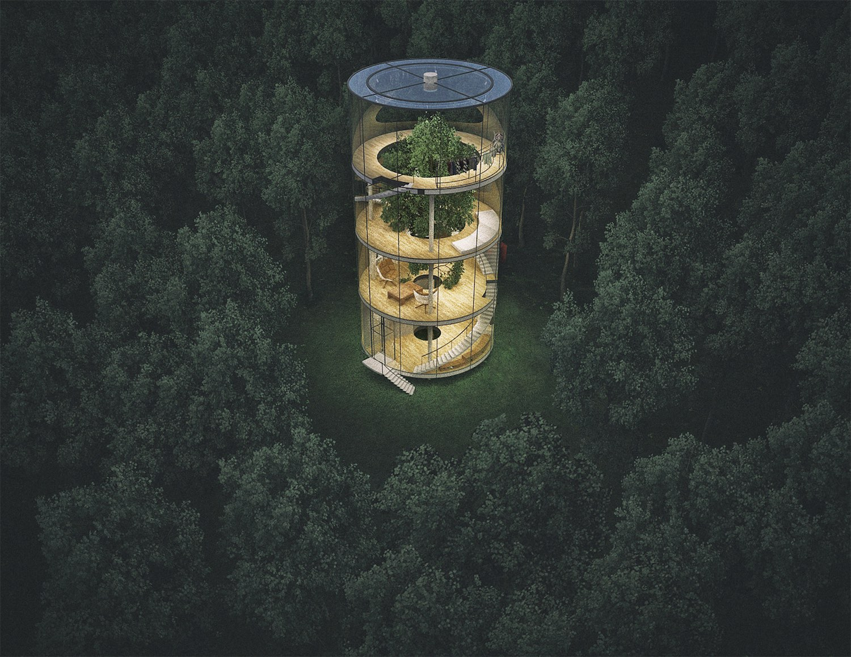 Modern Tree Houses A Modern Tree House By Aibek Almasov Ignantcom