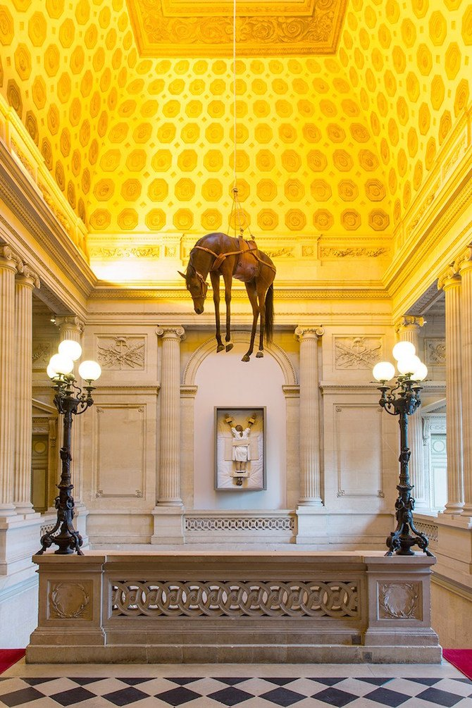 Maurizio Cattelan ,Hyperrealistic sculptures #artpeople