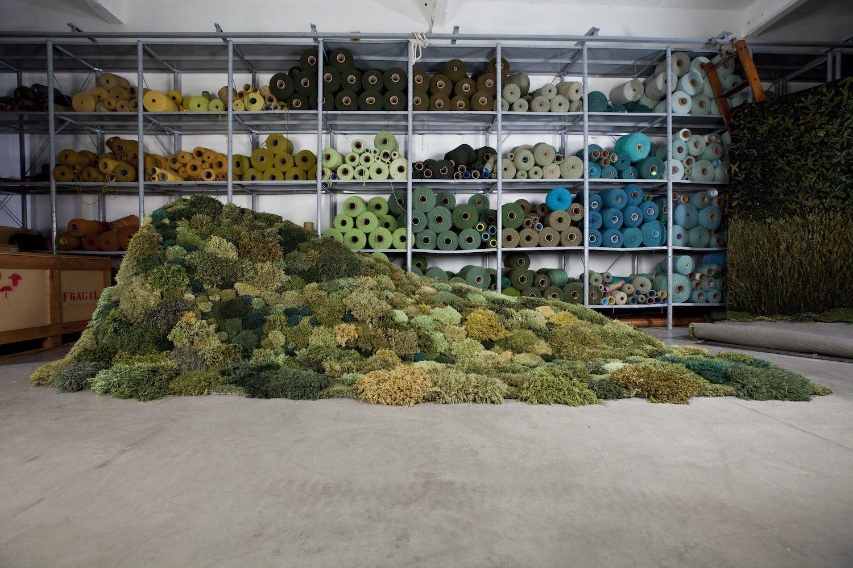 Alexandra Kehayoglou Hand Tufts Carpeted Landscapes