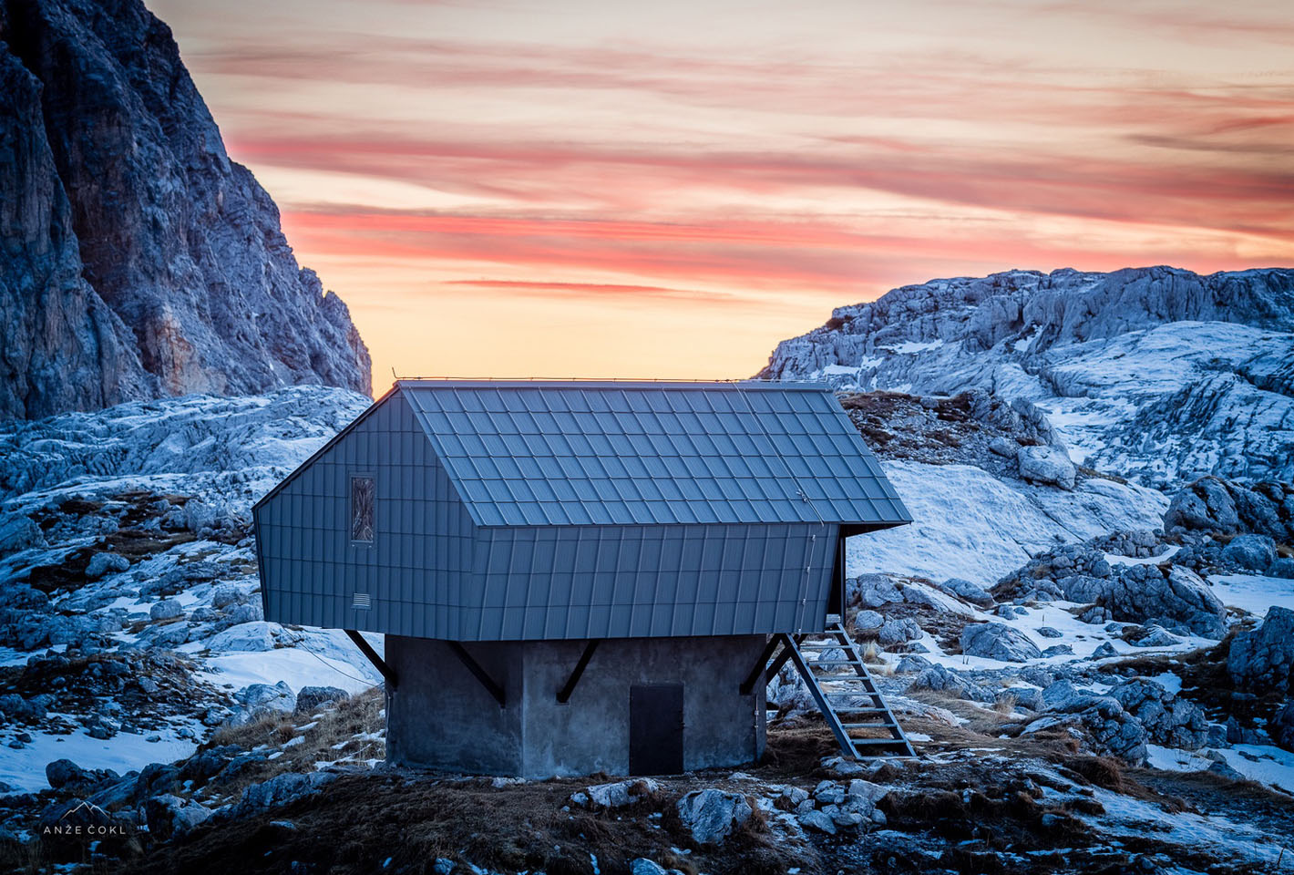 Alpine Shelter 'Bivak Na Prehodavcih' By Premica Architects