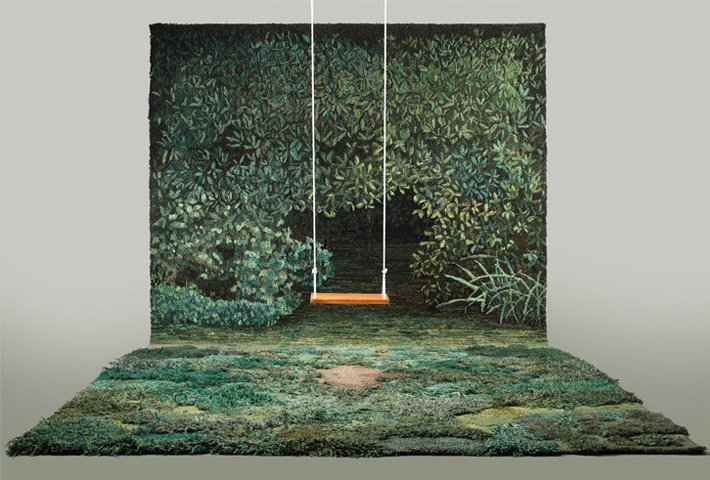 Alexandra Kehayoglou Hand-Tufts Carpeted Landscapes