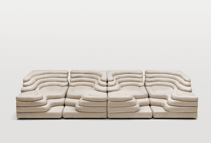 An Undulating Sofa By Ubald Klug