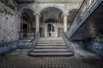 abandoned entry hall