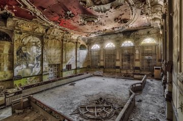 abandoned decay event hall