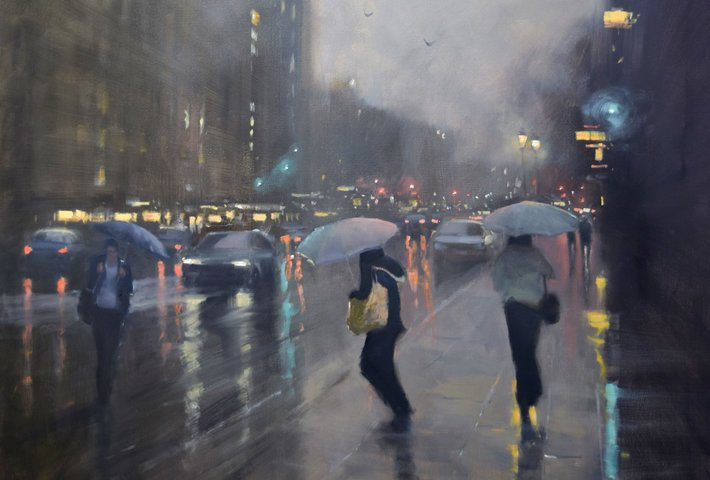 Mike Barr's Rainy Cityscapes