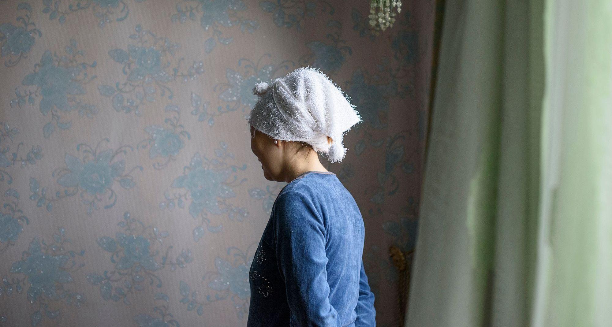 Portrait of Akerke, a Kazakh woman.