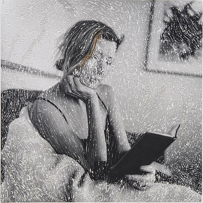 Melissa Zexter/ Embroidered photographs