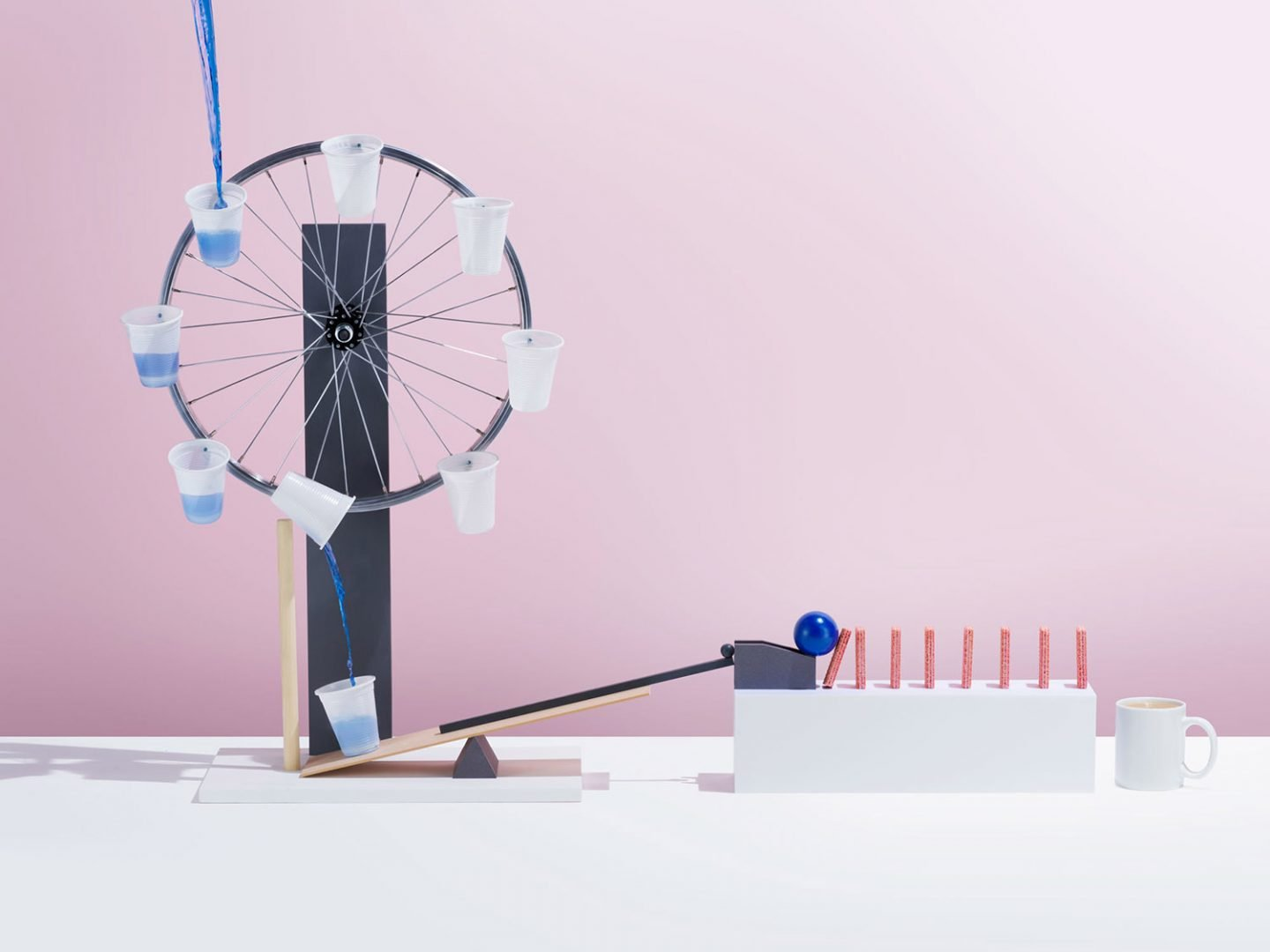 Rube Goldberg Pink