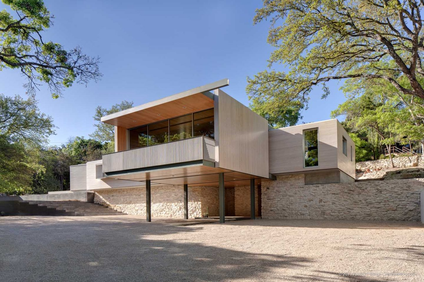 Pollen Architecture residence at 4502 Balcones Drive in Austin, TX 78731