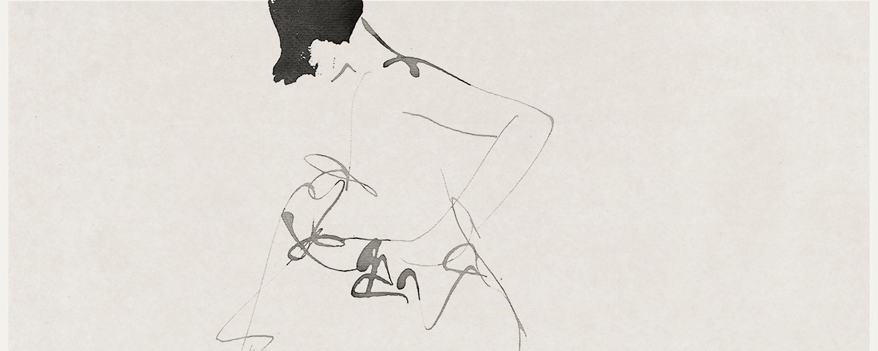 Aurore De La Morinerie's Calligraphic Figures