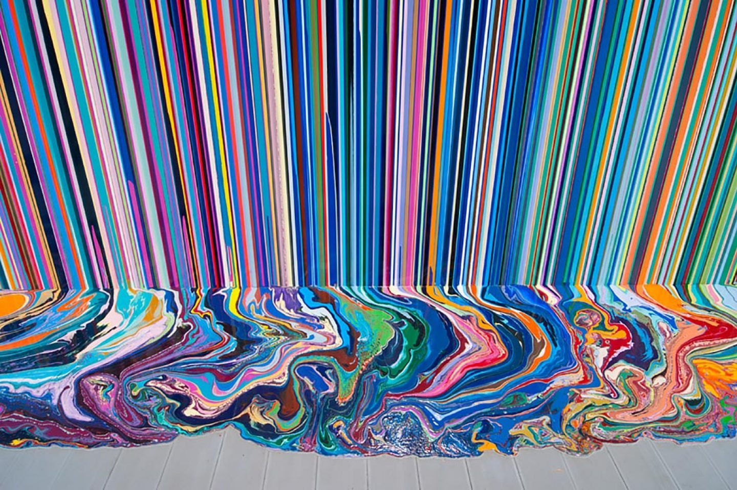 Ian Davenport U0026 39 S Poured Lines And Puddle Paintings