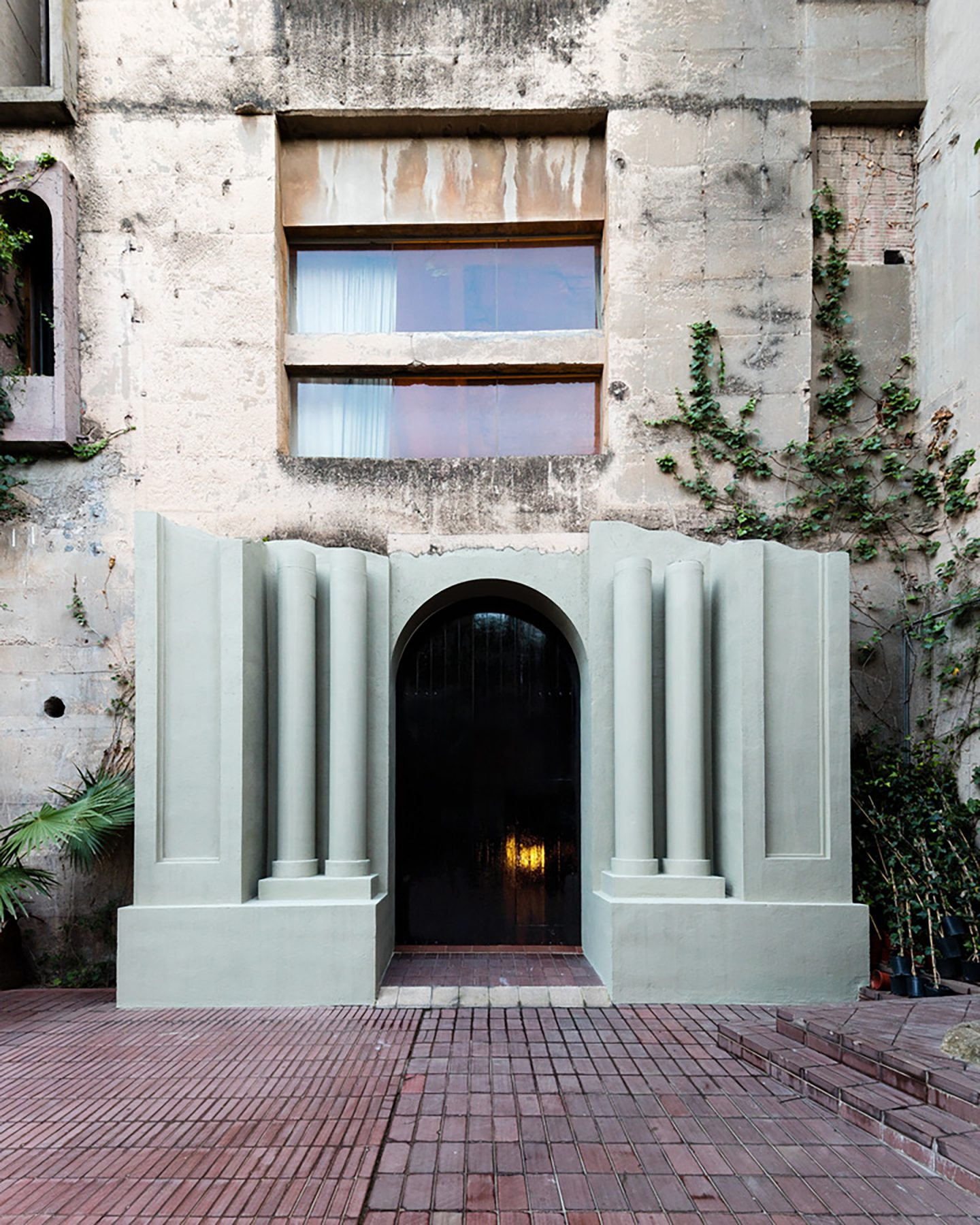 Ricardo Bofill's Dusky Pink Cement Factory