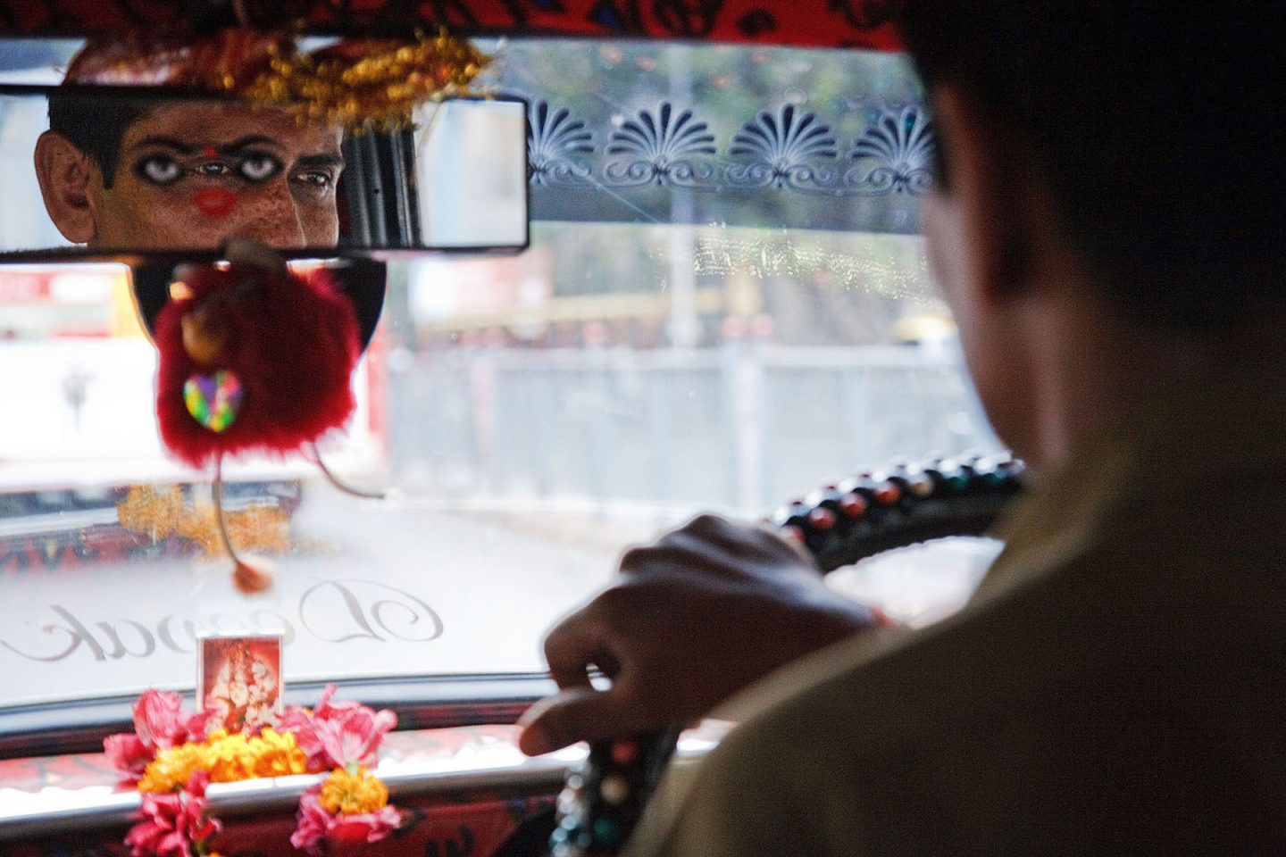 A taxi ride in Mumbai, India.