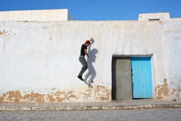 A scene from the medina in Kairouan, Tunisia.