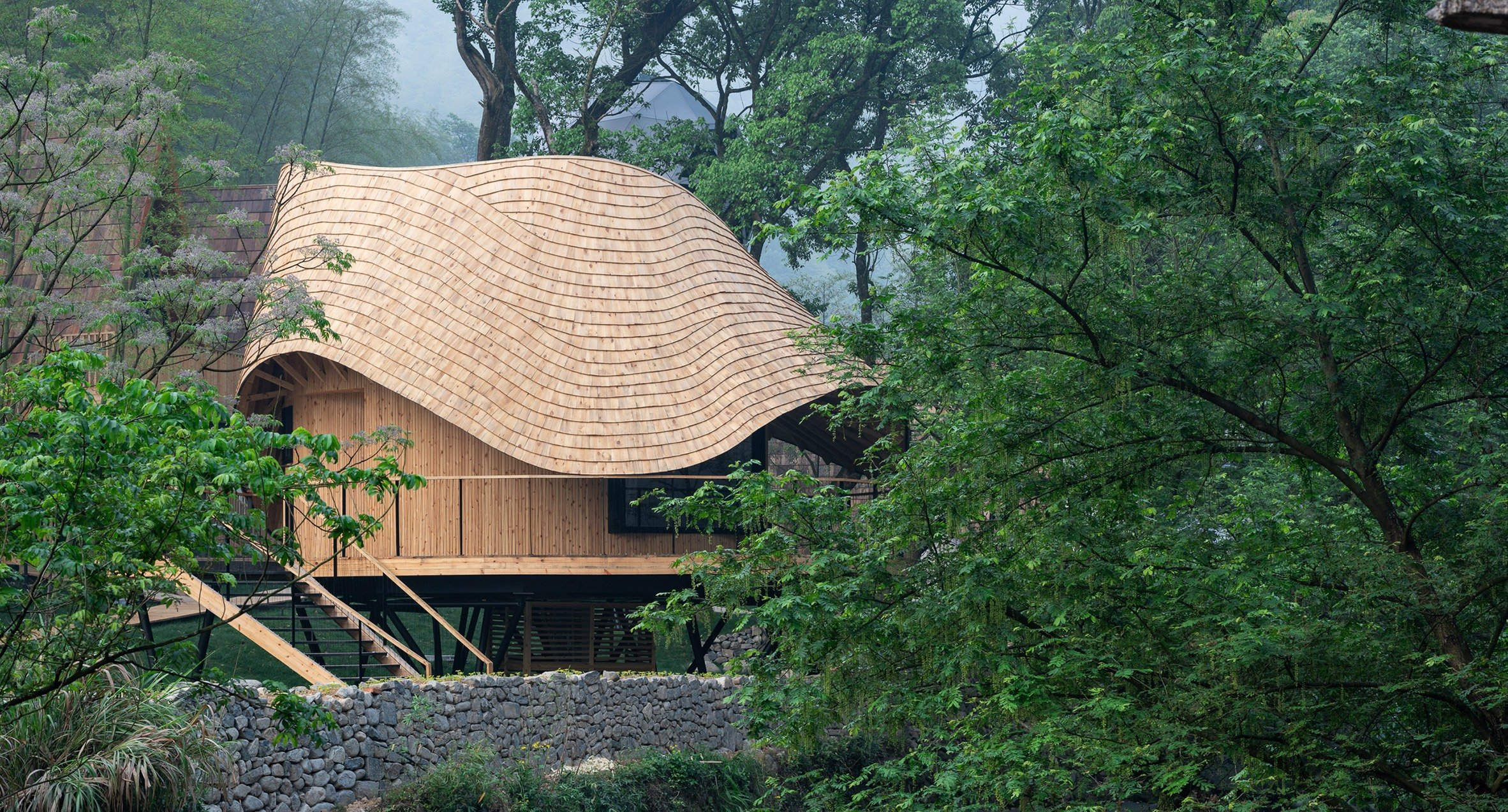 A Circular Villa On Stilts In The Remote Chinese Mountains Ignant
