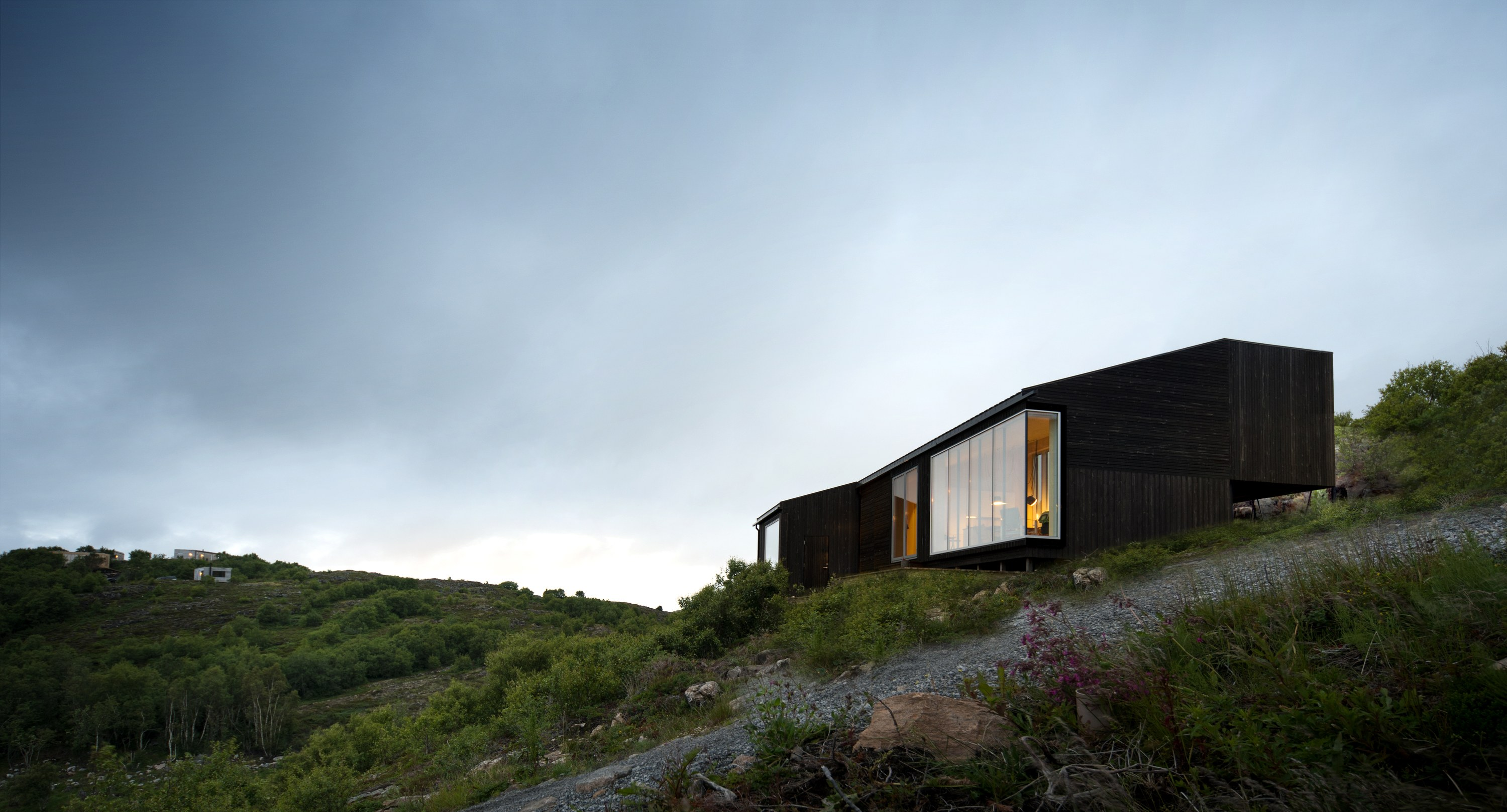 The Stokkøya Cabin Sits Settled Into The Hillside Of A Remote Norwegian...