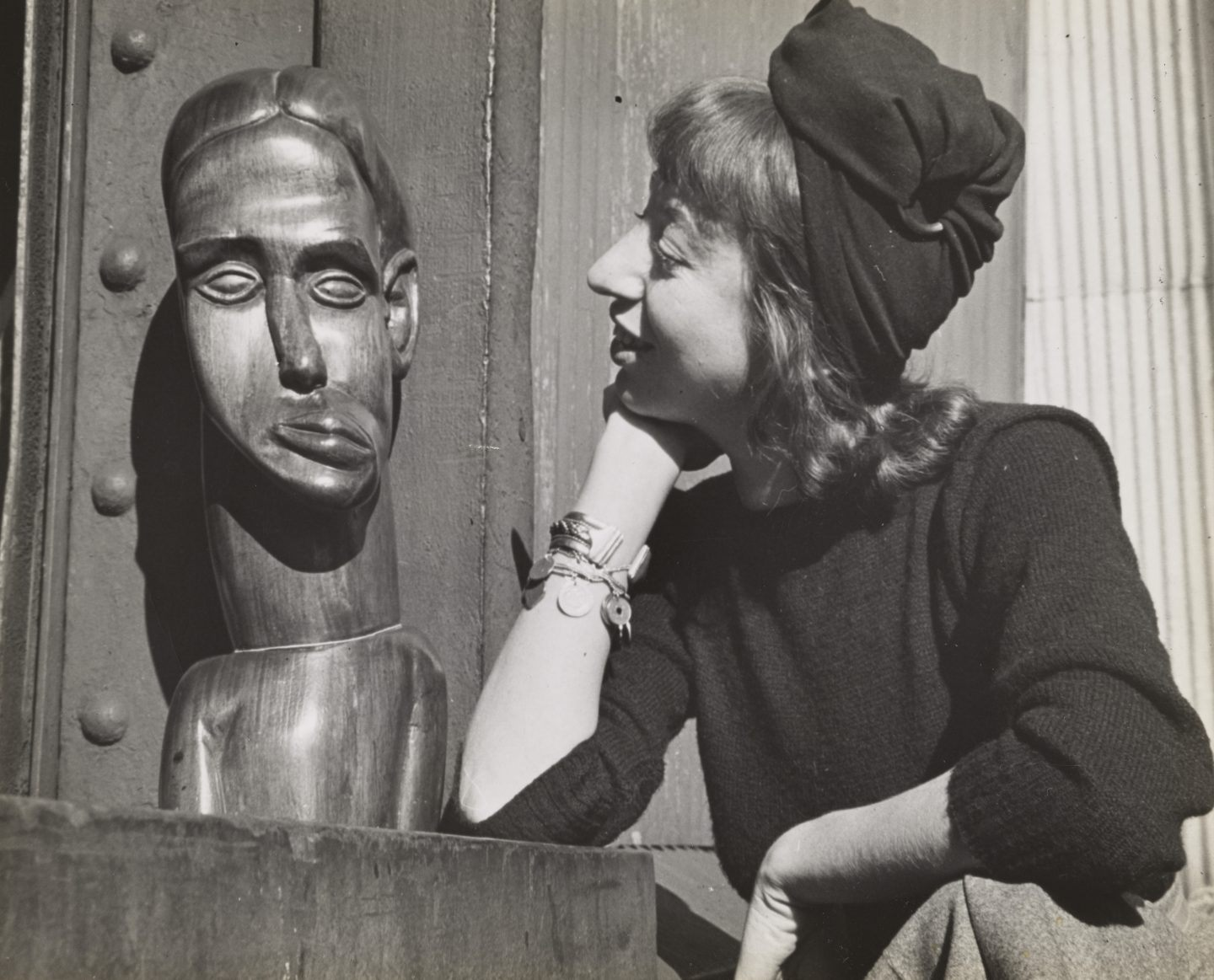 18.-Lee-Krasner-at-the-WPA-Pier,-New-York-City,-where-she-was-working-on-a-WPA-commission,--c.-1940.-Photo-Fred-Prater.-Lee-Krasner-Papers,-c.1905-1984.
