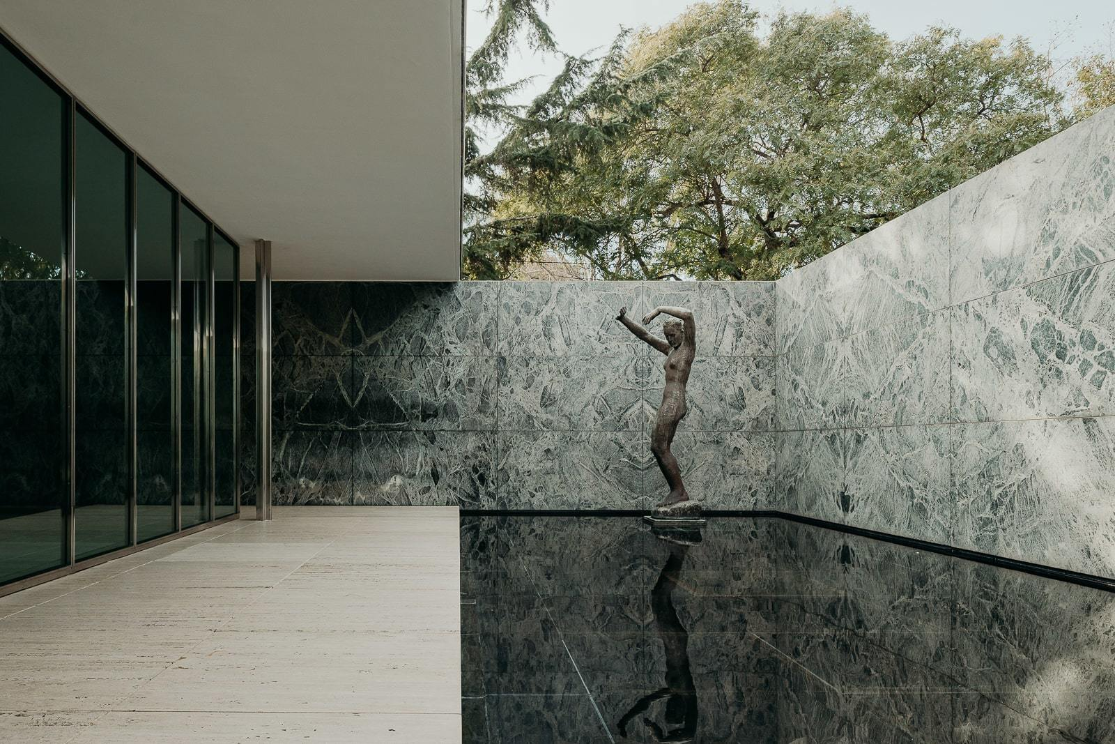 the barcelona pavilion by ludwig mies van der rohe is a textural delight ignant the barcelona pavilion by ludwig mies