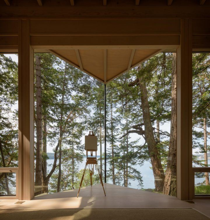 Olson Kundig Designs A Picturesque Artist Studio On A Remote Site On Blakely Island