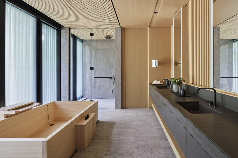 Aman Kyoto, Japan - Pavilion bathroom: Susuki, Nara, Kaede, Hotaru, Takagamine, Washigamine.tif