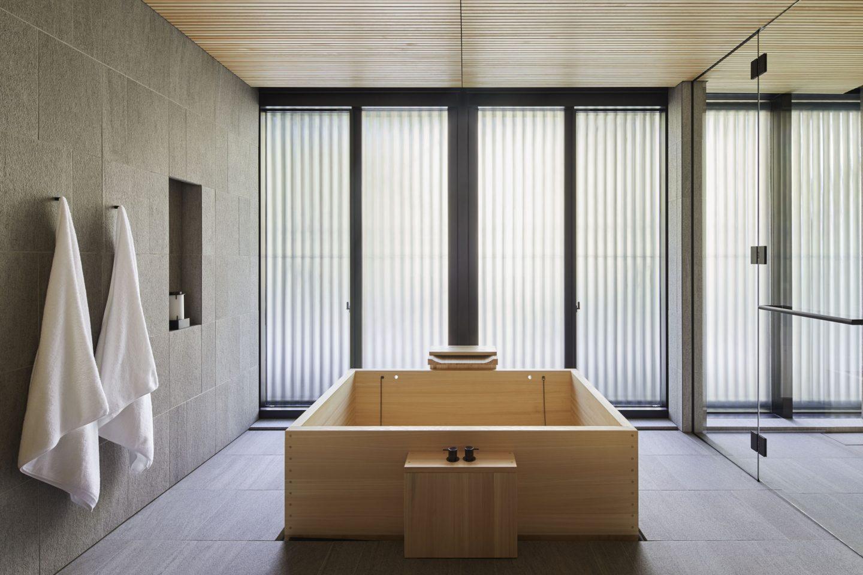 Aman Kyoto, Japan - Pavilion bathroom: Susuki, Nara, Kaede, Horatu, Takagamine, Washigamine.tif