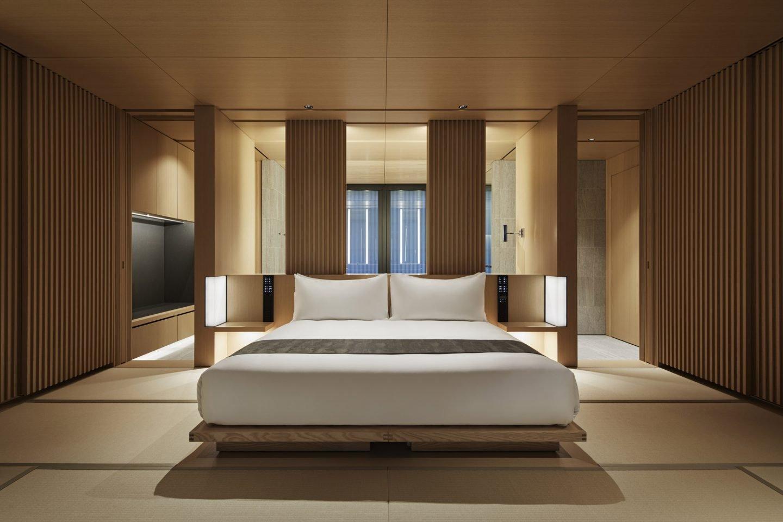 Aman Kyoto, Japan - Pavilion bedroom: Susuki, Nara, Kaede, Hotaru, Takagamine, Washigamine.tif