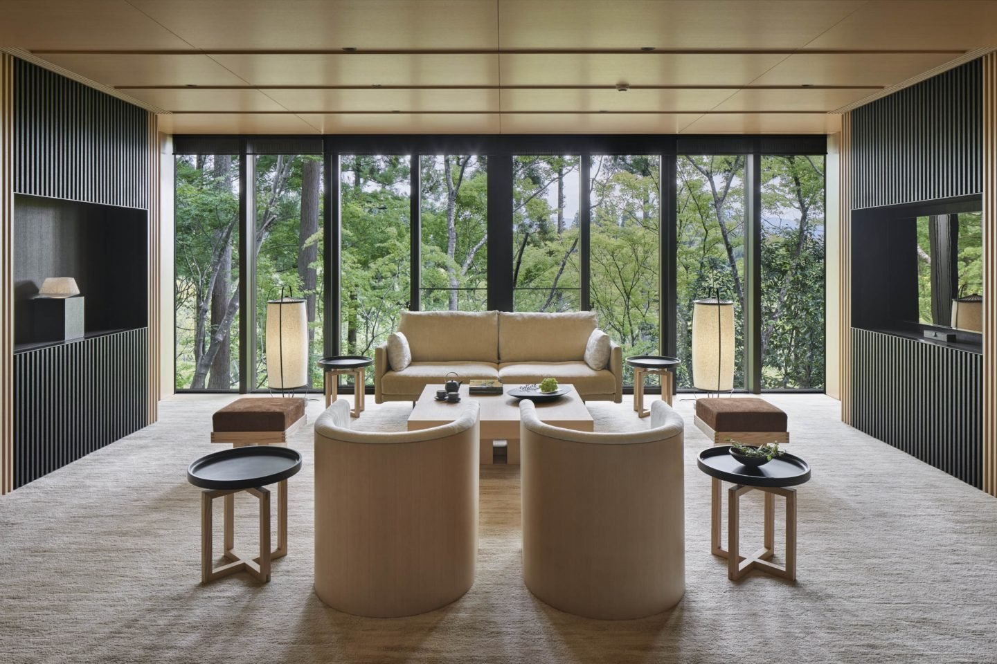 Aman Kyoto, Japan - Washigamine Pavilion Living room